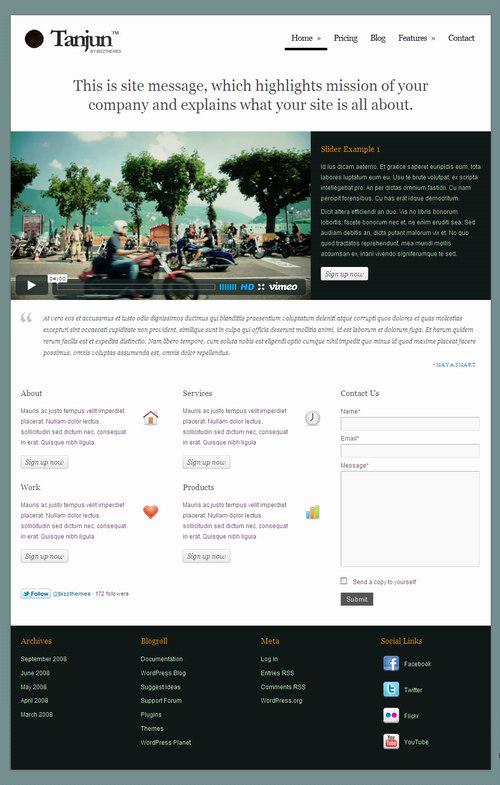 Tanjun WordPress Theme