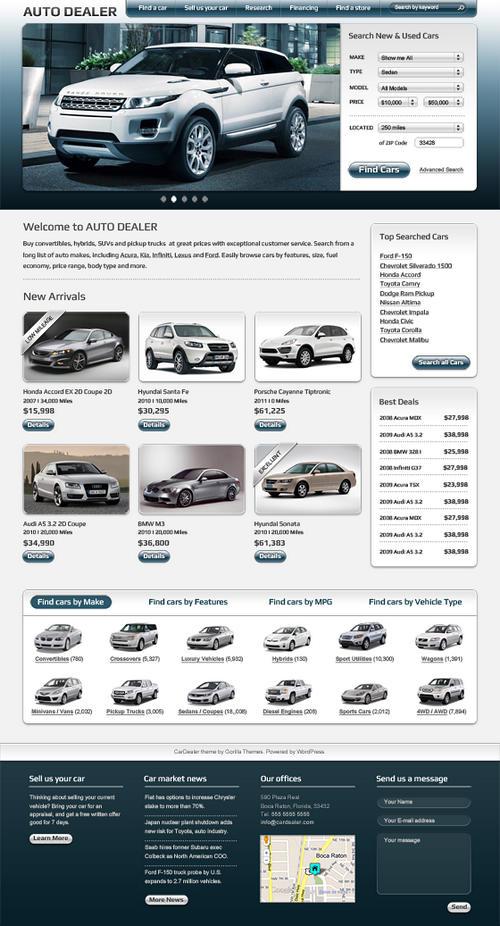 Auto Dealer Theme Preview