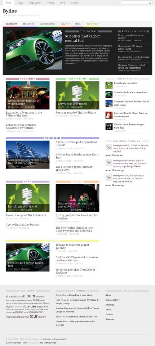 Byline WordPress Theme