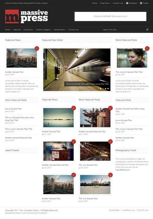 Massive Press WordPress Theme