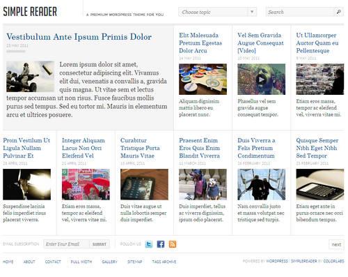 SimpleReader WordPress Theme
