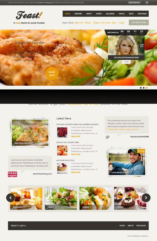WP-Reataurant WordPress Theme