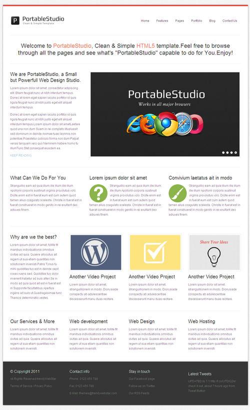 PortableStudio WordPress Theme
