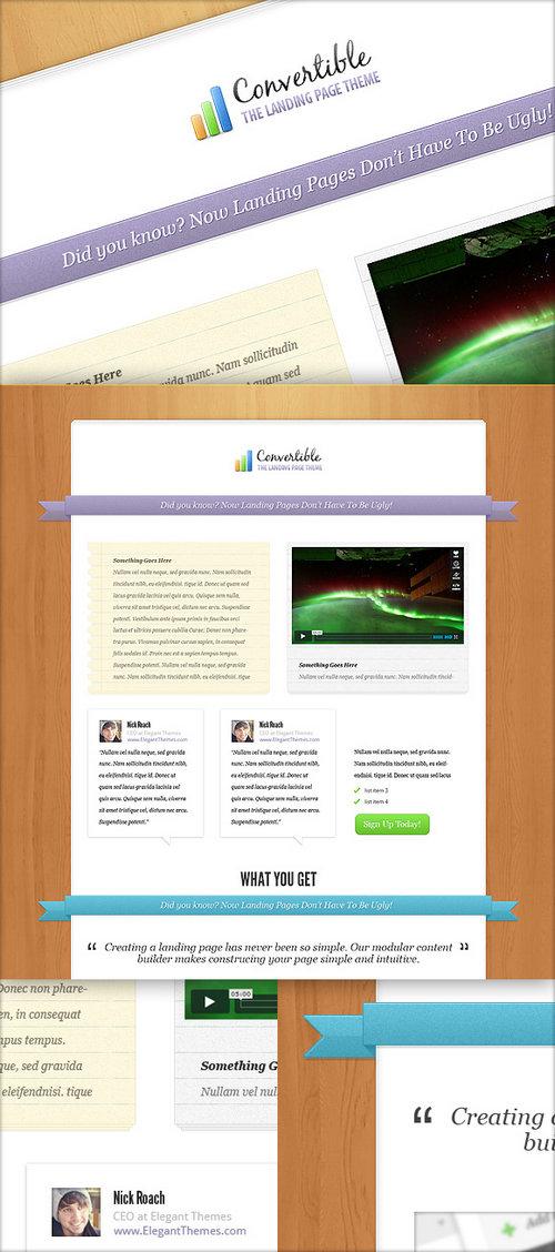 Convertable WordPress Theme