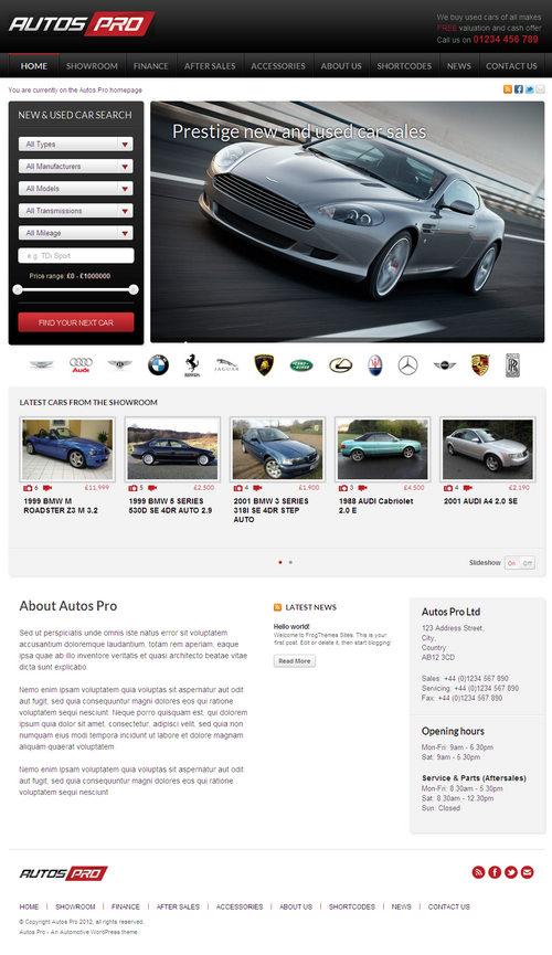 Autos Pro WordPress Theme