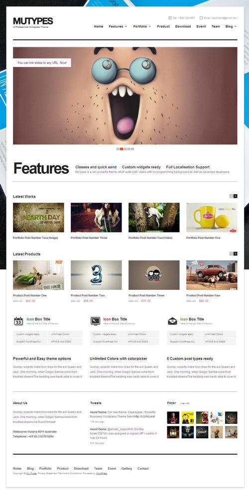 MuTypes WordPress Theme