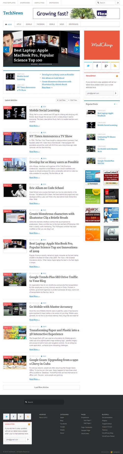 TechNews WordPress Theme