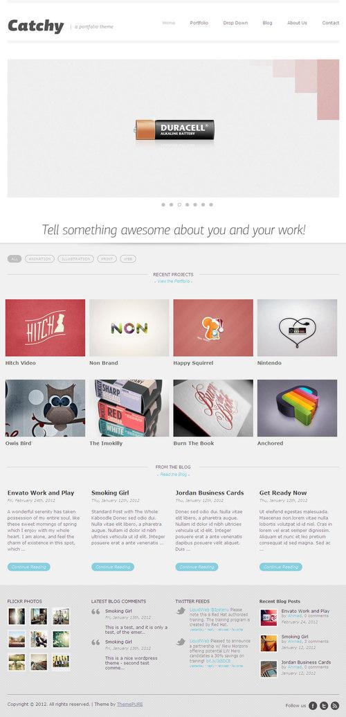 Catchy WordPress Theme