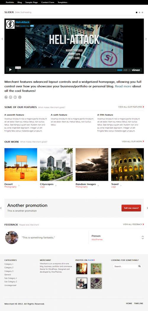 Merchant WordPress Theme