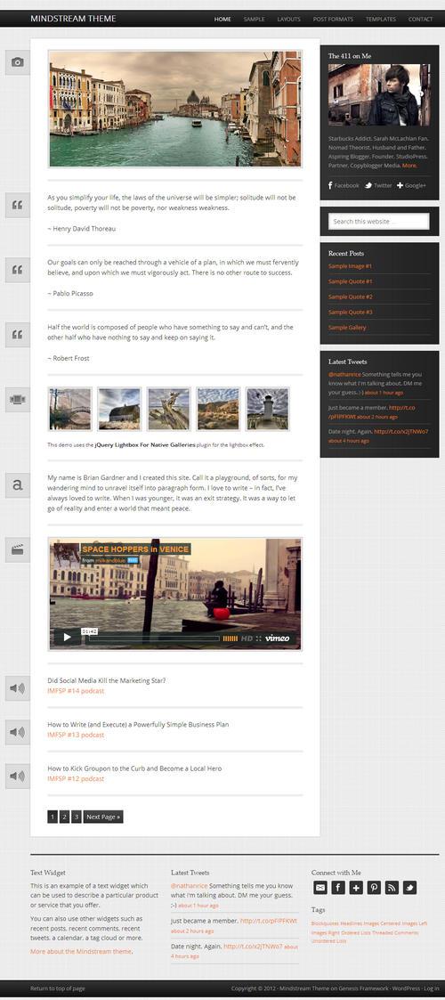 Mindstream WordPress Theme