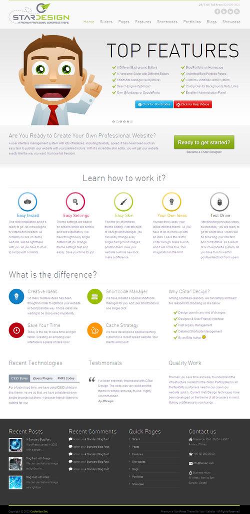 CStar Design WordPress Theme