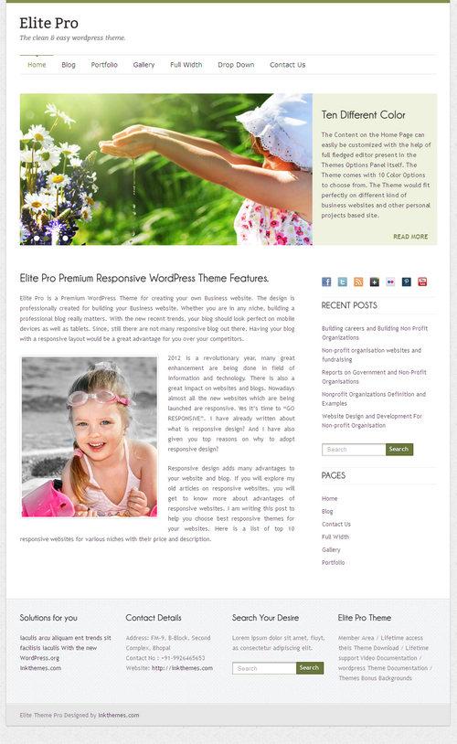 Elite Pro – A Responsive WordPress Theme | Best WordPress Themes