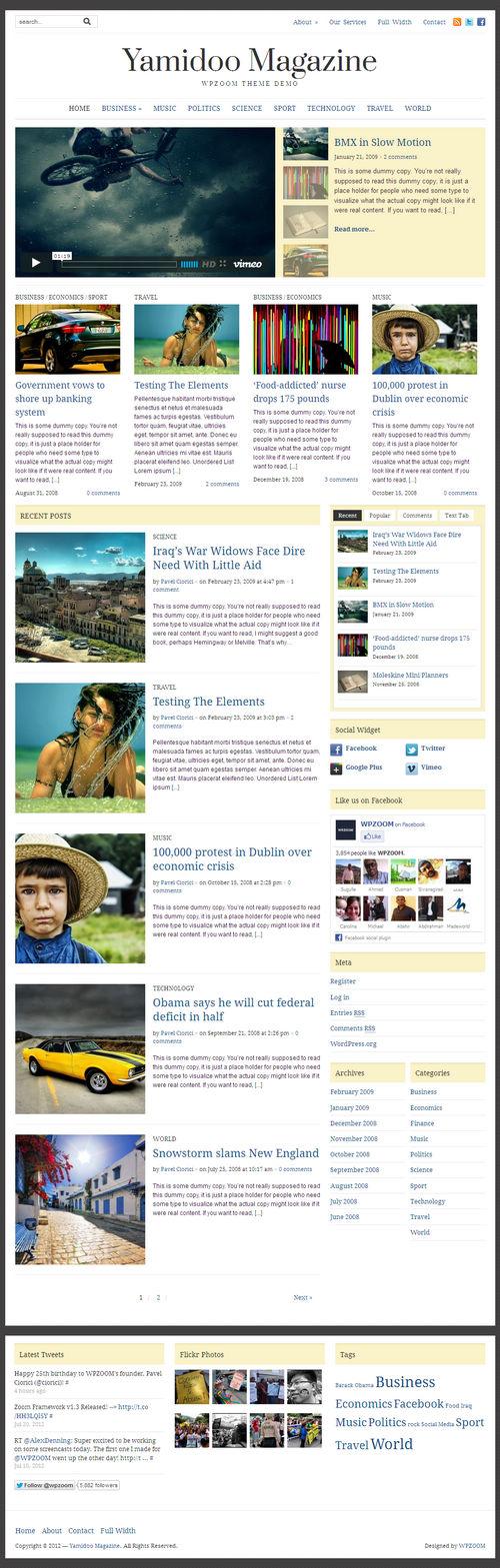 Yamidoo Magazine 2.0 WordPress Theme