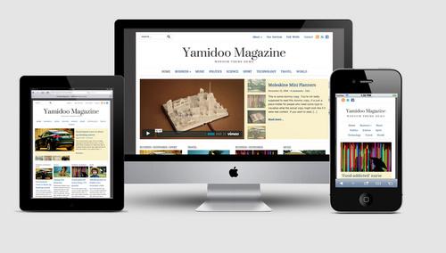 Yamidoo Theme Responsive Layout