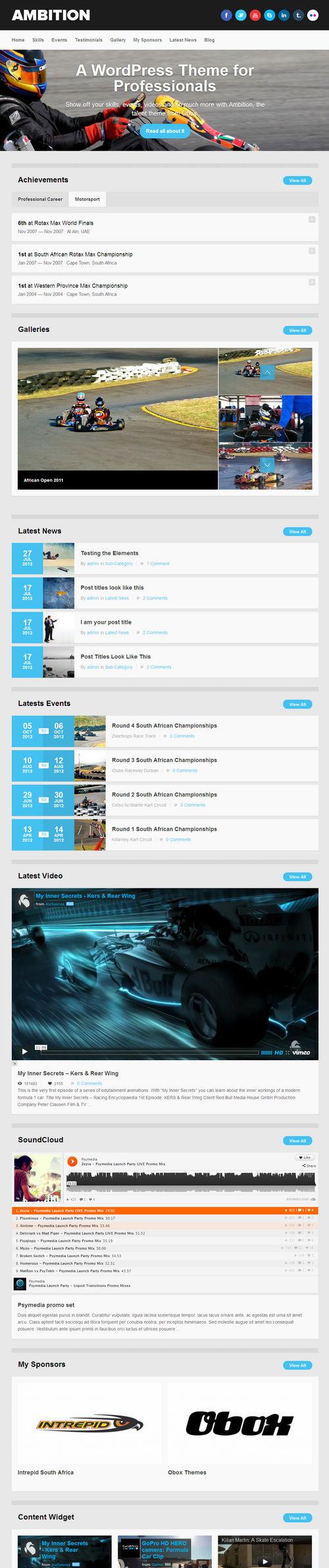 Ambition WordPress Theme