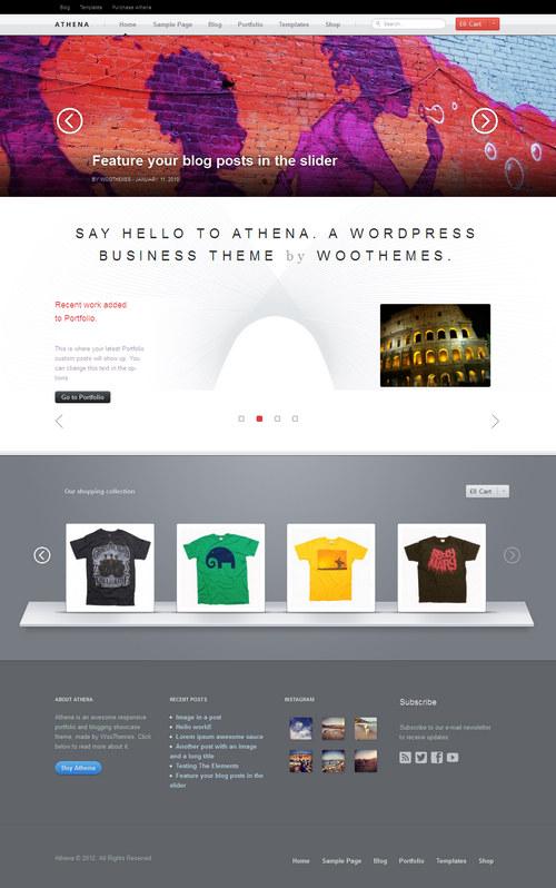 Athena WordPress Theme