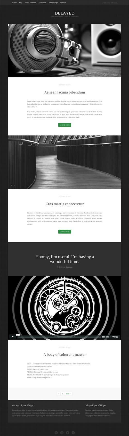 delayed WordPress Theme