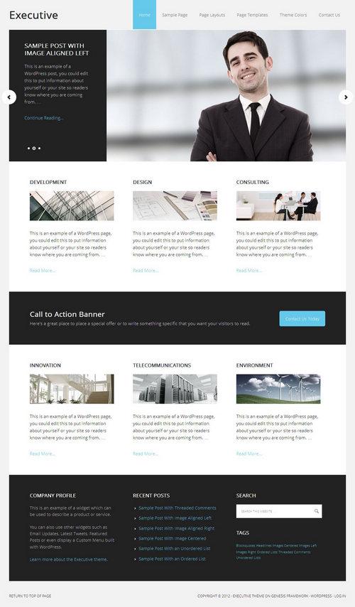 Executive 2.0 WordPress Theme