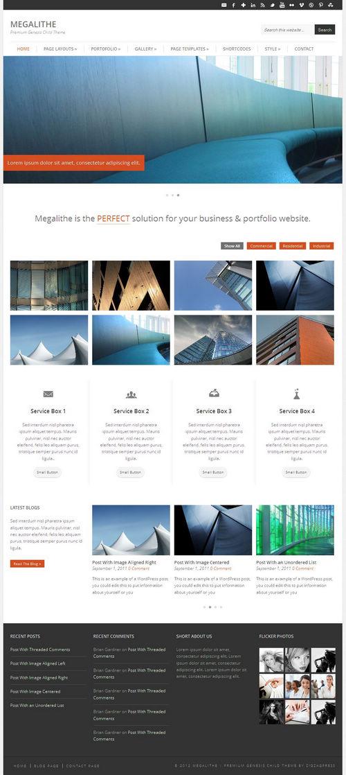Megalithe WordPress Theme