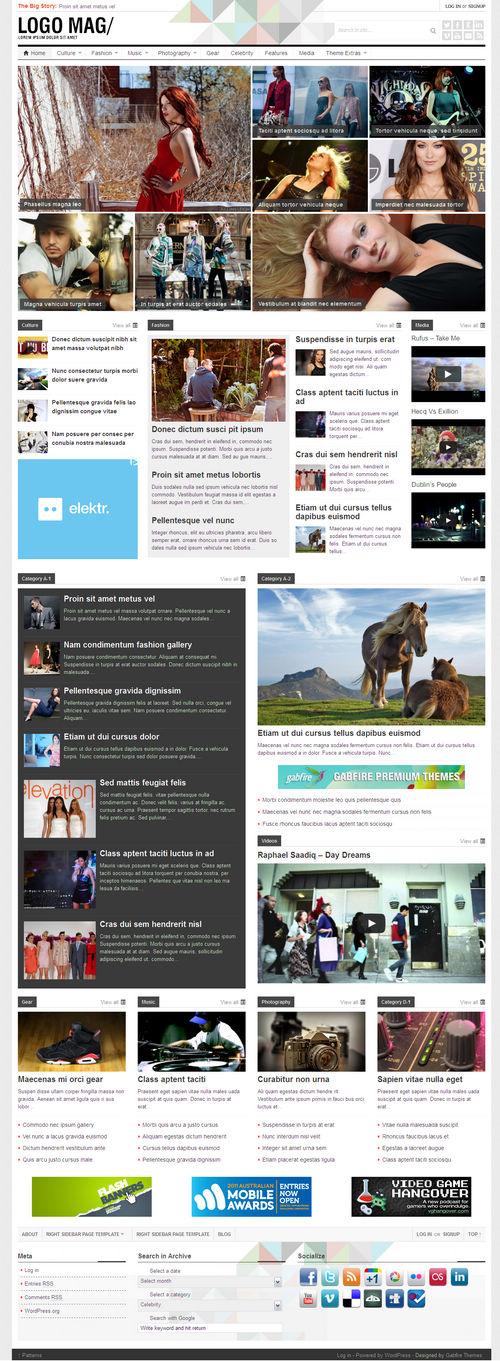 Patterns WordPress Theme