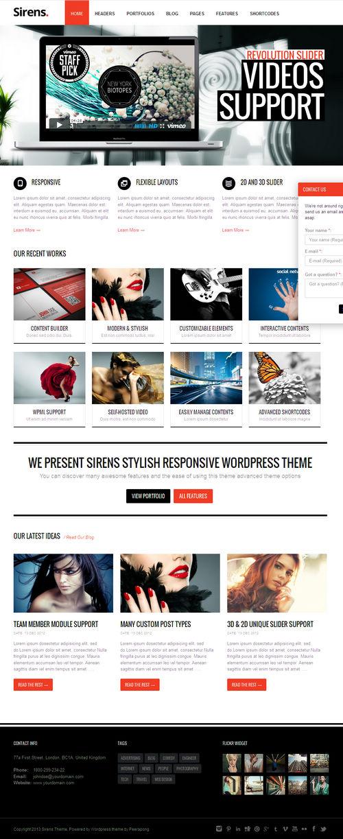 Sirens WordPress Theme