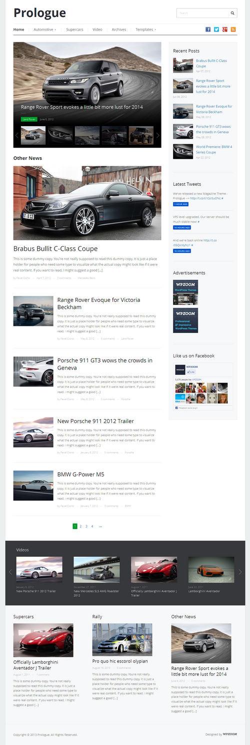 Prologue WordPress Theme