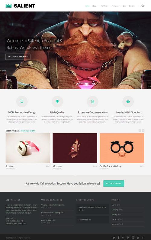 Salient WordPress Theme