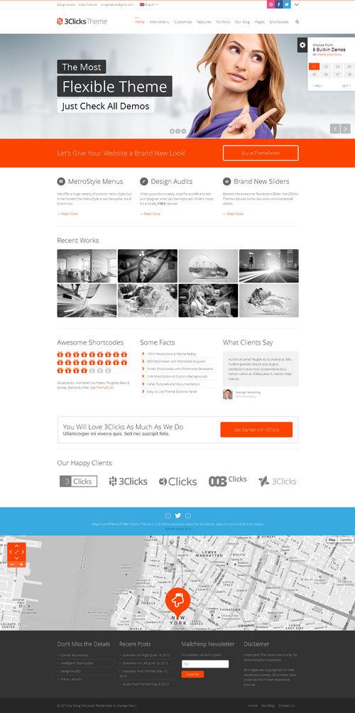 3Clicks WordPress Theme