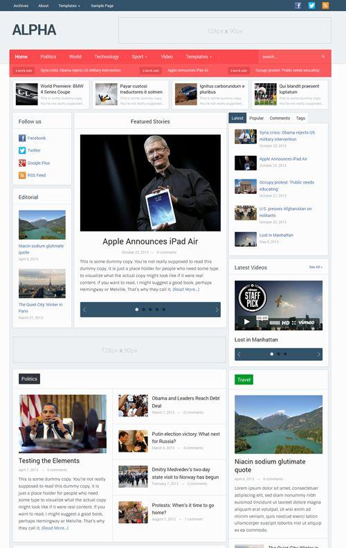 Alpha WordPress Theme