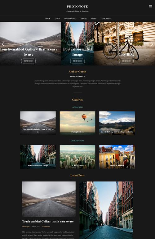Photonote WordPress Theme V2