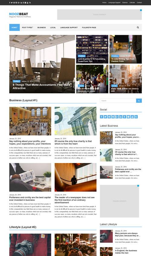 Noozbeat WordPress Theme
