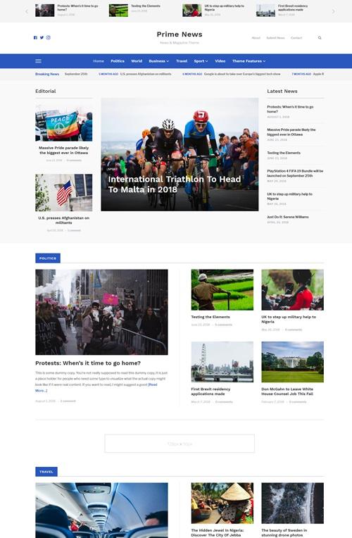 Prime_News WordPress Theme