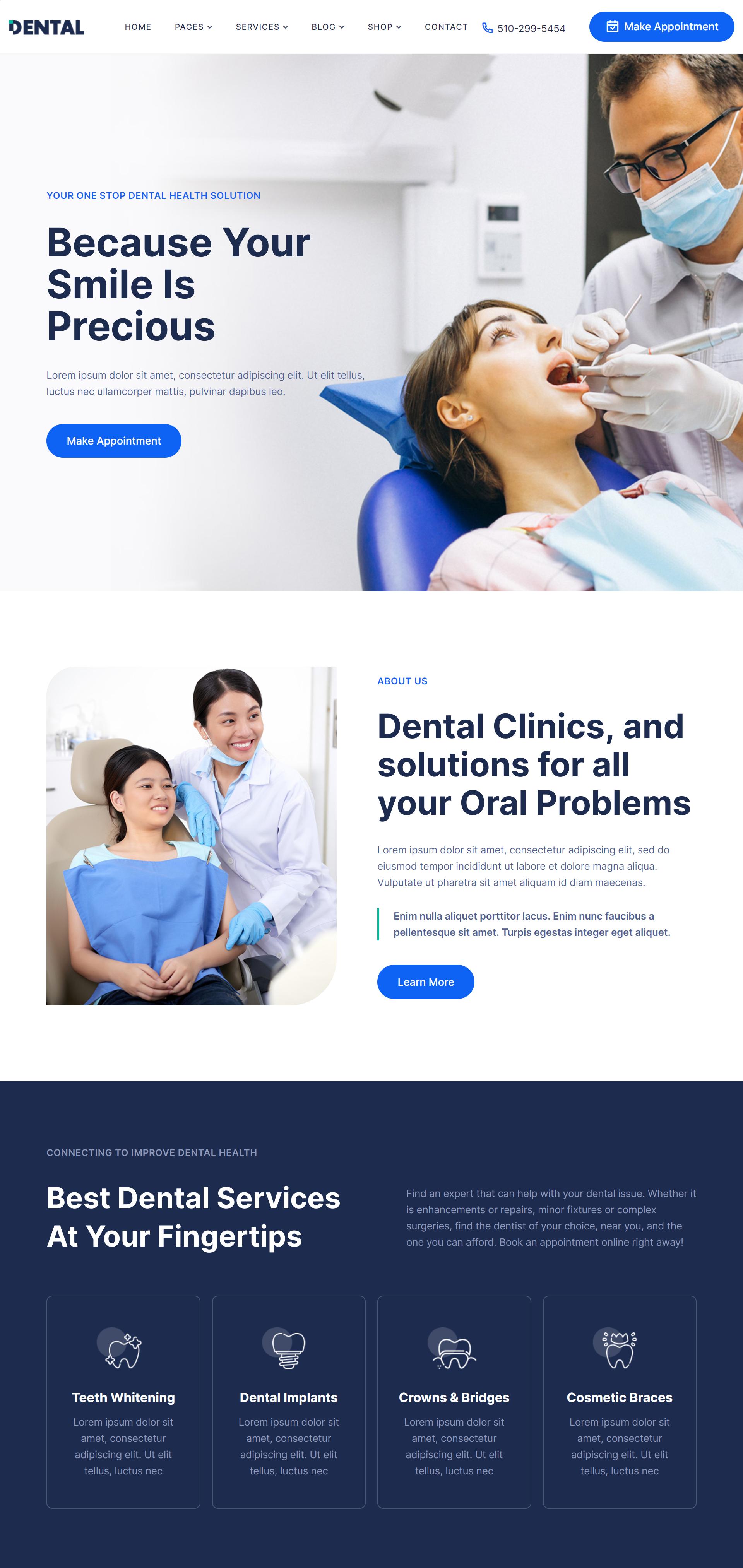 Dental WordPress Theme