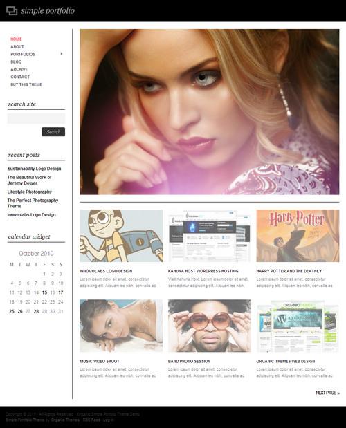 Simple Portfolio WordPress Theme