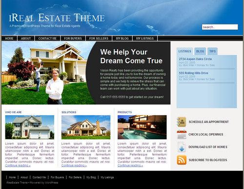 iReal Estate Premium WordPress Theme from ithemes