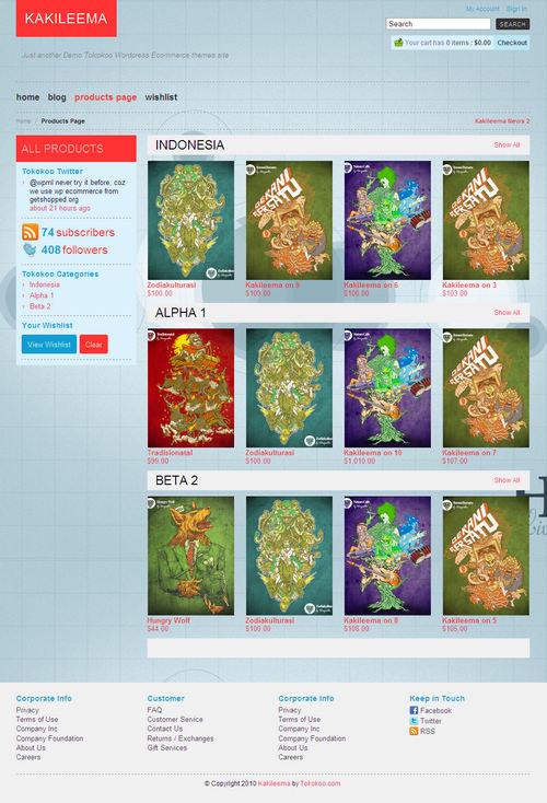 kakileema theme products list page layout