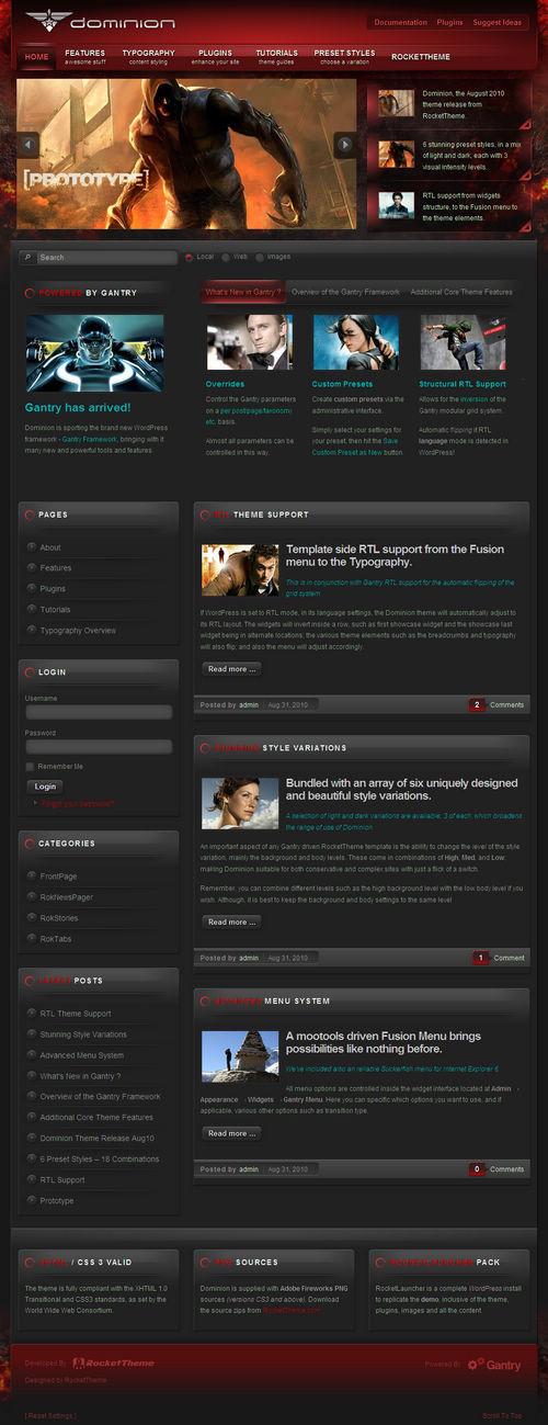 Dominion WordPress Theme