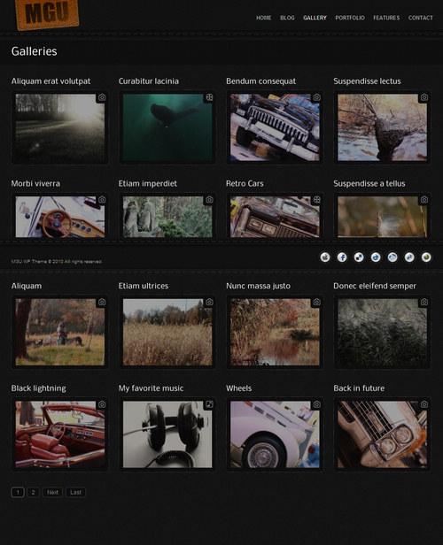 MG Universal WordPress Theme - gallery page