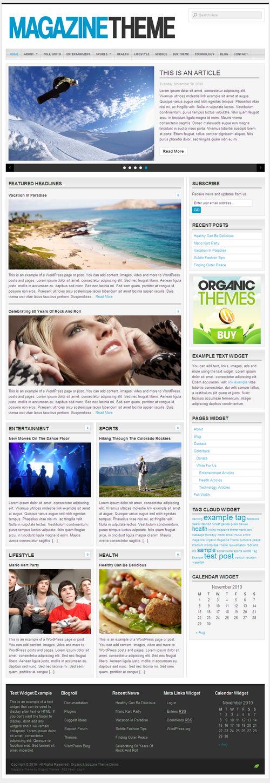 Organic Magazine 2.1 WordPress Theme