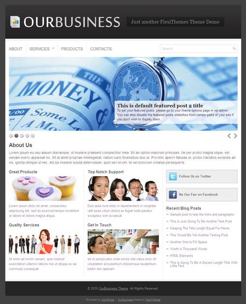 OurBusines Premium WordPress Theme