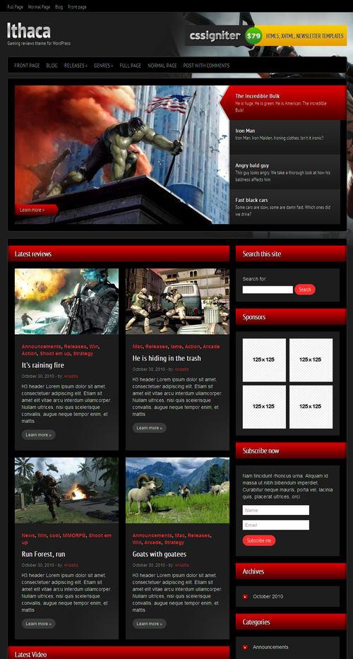 iThaca Gaming Premium WordPress Theme