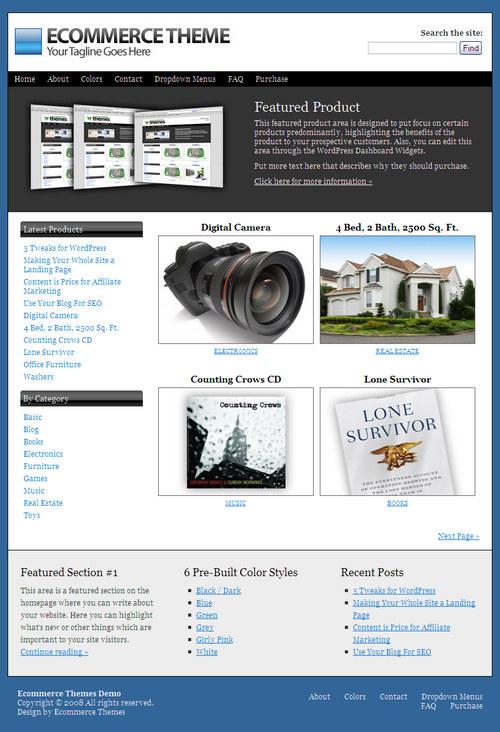iThemes Ecommerce Premium WordPress Theme
