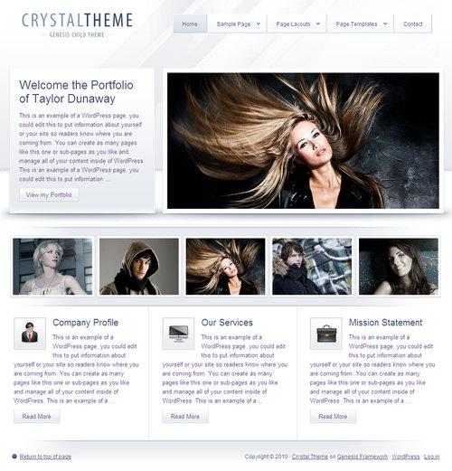 Crystal Prmeium WordPress Child Theme