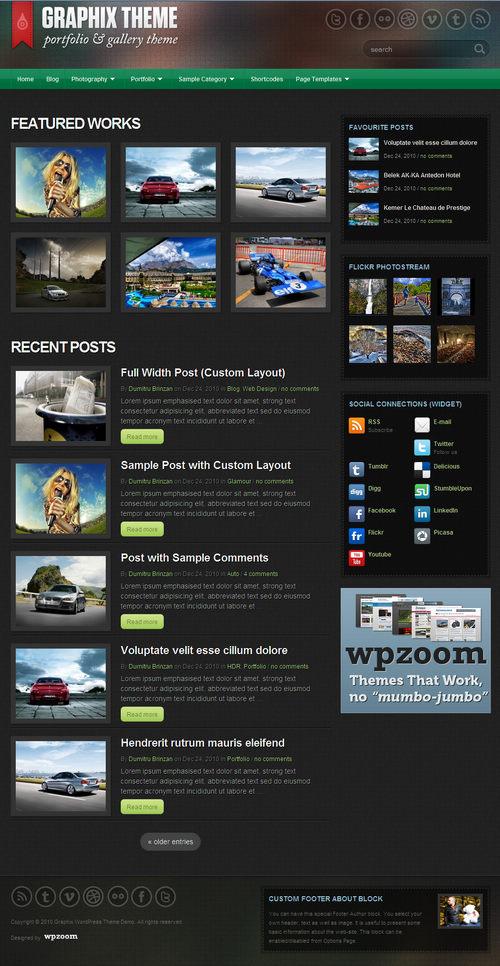 Graphix Premium WordPress Theme