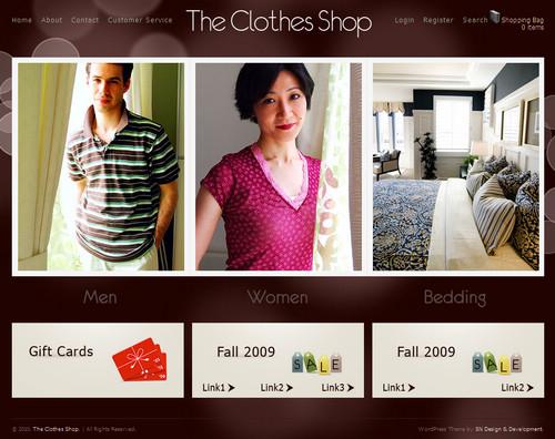 The Clothes Shop eCommerce WordPress Theme