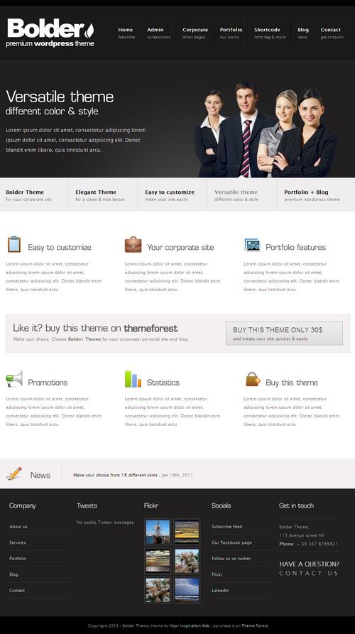 Bolder Premium Corporate WordPress Theme