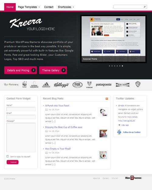 Kreera WordPress Theme