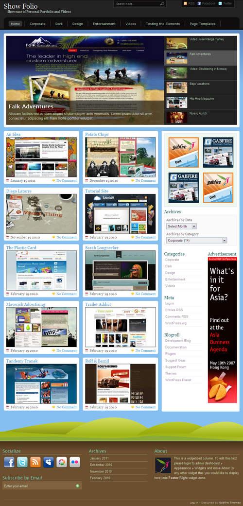 Showfolio WordPress Theme