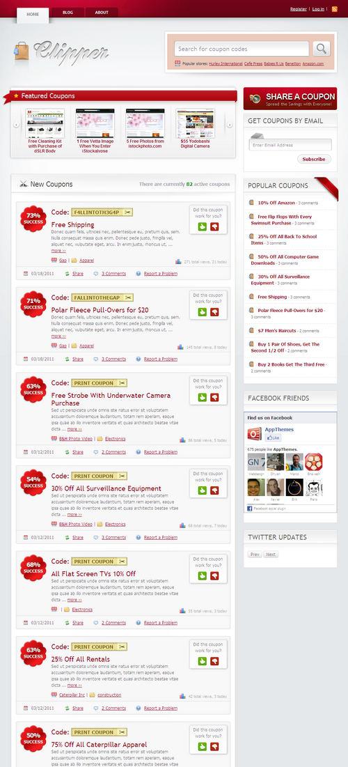 Clipper Coupon WordPress Theme