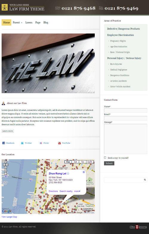 Law Firm Business WordPress Theme